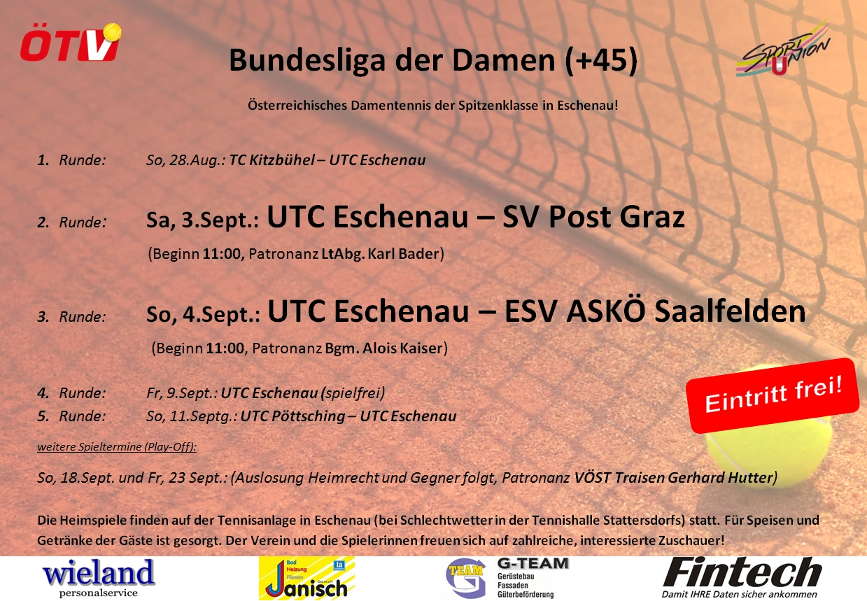 UTC ESCHENAU Bundesliga (D45) 2016