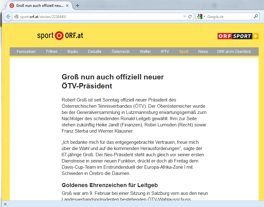 Screenshot sport.orf.at
